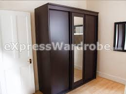 homebase vancouver wardrobe with 3 sliding doors