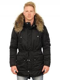 half length men s winter jacket black versano front