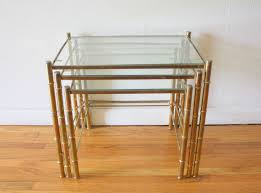 brass faux bamboo nesting tables   picked vintage