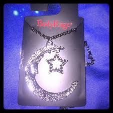 body rage spencer s crescent moon star necklace
