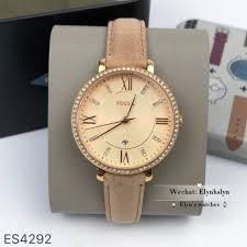 fossil watch jacqueline three hand date sand leather watch women s fashion watches on carou