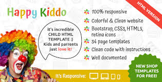 Free Templates For Kids Happy Kiddo Multipurpose Kids Html Template By Entrosolutions