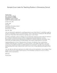 Example Of Education Cover Letters Teacher Cover Letters Samples Teachers Cover Letter Examples