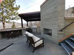 Old Town Design Build Board Formed Concrete Fireplace And Outdoor Kitchen With