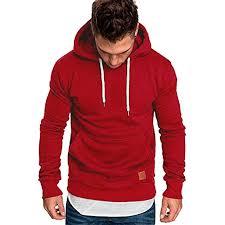 <b>Hoodies</b> for <b>Men</b>, Pervobs <b>Men's</b> Long Sleeve <b>Autumn</b> Solid Pocket ...