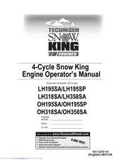 Tecumseh Snow King LH318SA Manuals