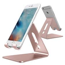 updated solid version omoton desktop cell phone stand tablet stand advanced 4mm thickness aluminum stand holder for mobile phone all size and tablet