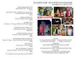 production artist resume zevents zachariah durrs blog art production designer resume
