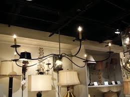 shaker black iron room chandelier