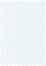 Hexagon Graph Paper With 1 4 Inch Spacing On Letter Sized
