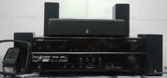 yamaha surround sound. yamaha av receiver rx-v373 + surround sound speakers