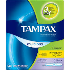 Tampax Sport Light Tampax Cardboard Multipack Light Regular Super Tampons
