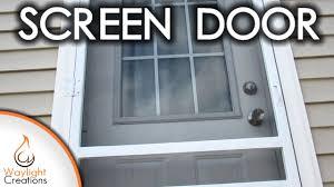Homemade Screen Door Designs Easy Diy Wood Screen Door
