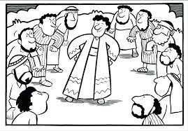 Bible Coloring Pages Of And His Brothers Joseph Forgives Fed Page