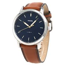fossil the minimalist brown leather watch for men
