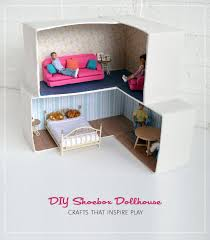 Shoebox Bedroom Mollymoocrafts Cardboard Crafting Diy Dollhouse Mollymoocrafts
