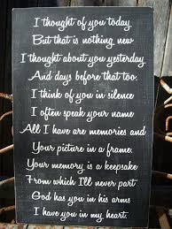 Memory Sign Wedding Memory Sign I Thought About You Today