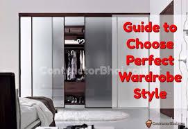 Wardrobe Interior Designs Style Simple Decoration