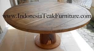 large round teak wood table furniture