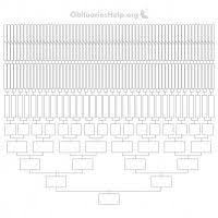20 Generation Pedigree Chart New Free 16ft Family Tree Templates Chart 12 Generations Of
