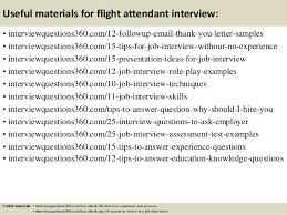 ... 16. Useful materials for flight attendant ...