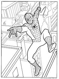 Spider Man Color Page Cartoon Characters Coloring Pages Spider Man