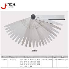 Spring Steel Gauge Chart Us 11 34 14 Off Jetech Tool 23 Piece Blade Spring Steel Go On Go Master Feeler Gage Gauge Set 0 02 1mm Gap Filler Thickness Measurement Tool In
