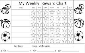 weekly reward chart printable printable reward charts sticker charts kids charts charts for