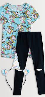 Fabkids Size Chart Unicorn Tee Legging Headband Pack