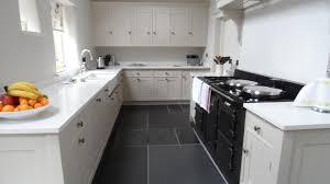 Revisited Dark Floor Kitchen White Cabinets Tile Www