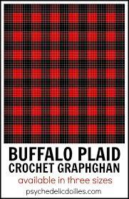 Buffalo Plaid Blanket Crochet Pattern Graph Psychedelic