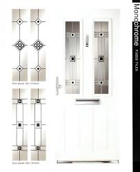 monochrome glass fused tiles in glass door panels