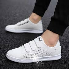 <b>LAISUMK</b> Breathable Men Sneaker Male Shoes Adult Red Black ...