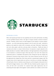 pdf corporate governance problem starbucks