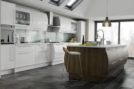 duleek high gloss white and brown santana kitchen