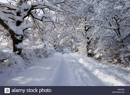 Snow Scenes Around Chesterfield Derbyshire East Midlands England