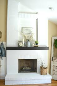 smlf how paint brick fireplace simple steps gray wash grey with wood mantel walls