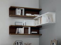 corner wall decor shelf bedroom shelves decorating ideas brown white stained wooden bookshelf modern decorative guards