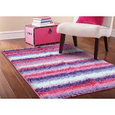 Bedroom : Great Pink Shag Area Rug Striped Girls Kids Bedroom Bright  Stripes And Fun Design Welcome Softness Underfoot With Shaggy Texture  Lending Coziness ...