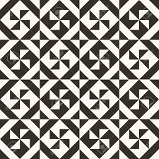 Black And White Quilt Patterns Gorgeous Black And White Abstract Geometric Quilt Pattern High Contrast