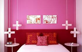 Girls Bedroom Decoration In Pink Paint Colors