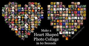 make a heart shaped photo collage in 60