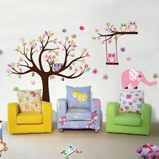 removable wall stickers owl tree branch heart tree bird vinyl wall sticker art decal kids children room nursery decor com