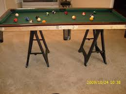 Diy pool table plans Custom Built Picture Of Finishing The Project Instructables Small Pool Table 12 Steps