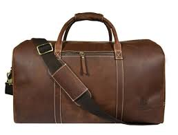 bag leather duffle travel men gym luggage genuine overnight mens vintage holdall for