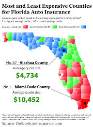 Florida Quotes Best Florida Map Auto Insurance Quotes By County Infographic