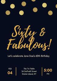 Free 60th Birthday Invitations Templates Free Birthday Invitations