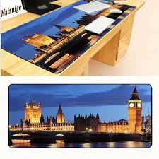 mairuige london night time decorate your desk at home and office desk gming mouse pad size 900 400 2mm lock edge laptop wrist rest large mouse pad from