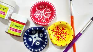 Diya Painting Designs 3 Easy Ways To Decorate Plain Diyas Part 1 Small Diya Painting Ideas Diwali Decoration Diy