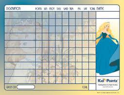 Behavior Chart Princess Theme Kid Pointz